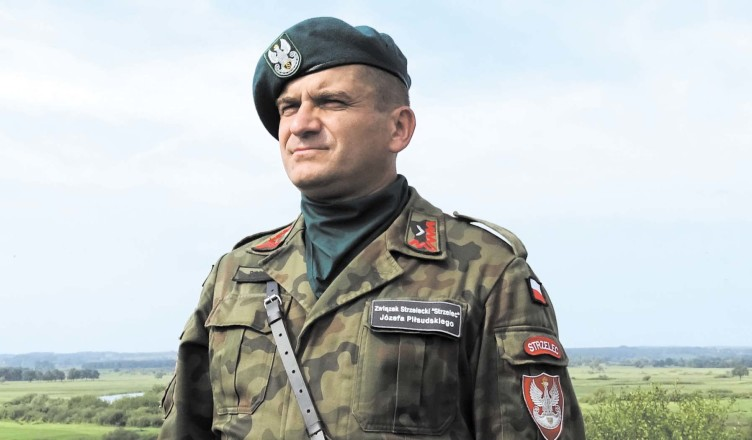 Mirosław Sobiecki z wiceburmistrzem Wołomina pod Wizną