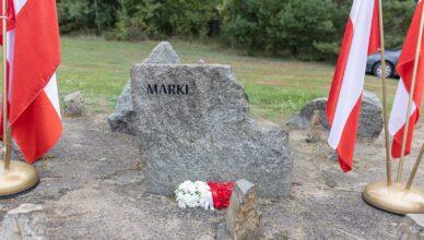 Kamień z napisem Marki w Treblince